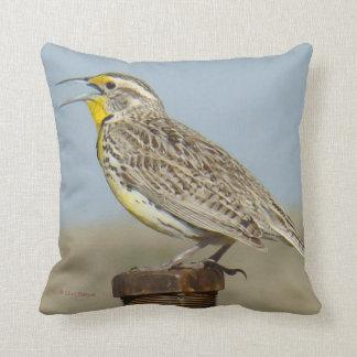 B0006 Western Meadow Lark Throw Pillow