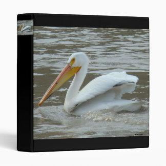 B0014 White Pelican 3 Ring Binder