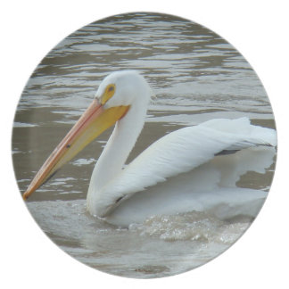 B0014 White Pelican Party Plates