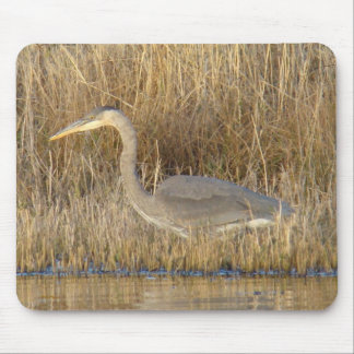 B0019 Blue Heron Mouse Pad
