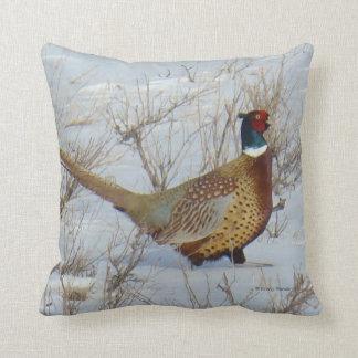 B0022 Ring-necked Pheasant Throw Pillow