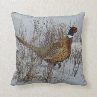 B0023 Ring-necked Pheasant Throw Pillow