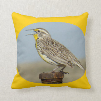 B0042 Western Meadow Lark Throw Pillow
