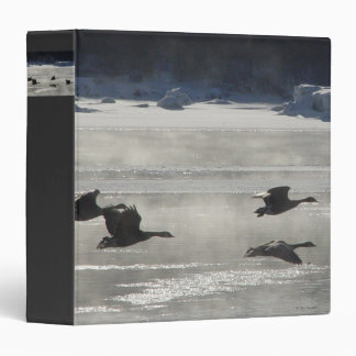 B0047 Canadian Geese Over Frozen River Binder