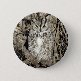 B0051 Great Horned Owl Button