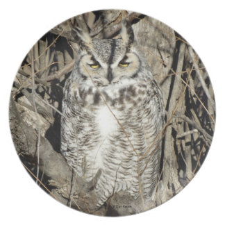 B0051 Great Horned Owl Plate