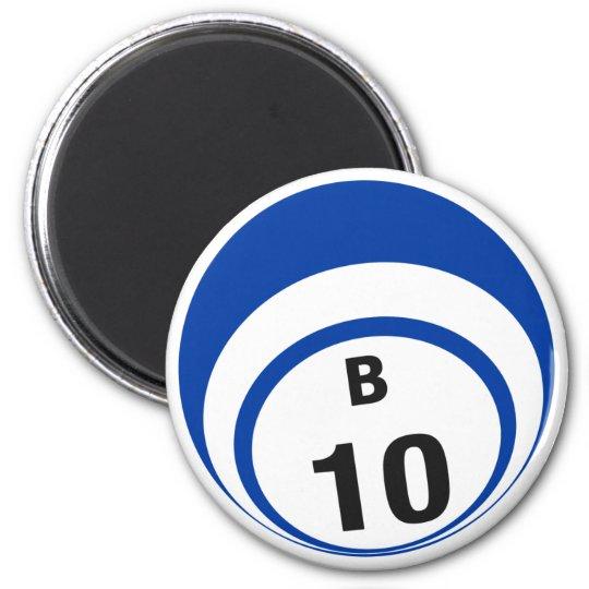 B10 bingo ball fridge magnet