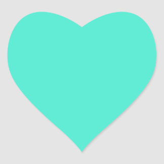 B10 Gem Of A Turquoise! Color Heart Sticker