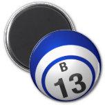 B13 bingo ball magnet