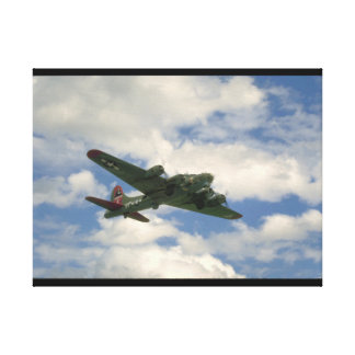 B17, Belly View. (plane;b17_WWII Planes Canvas Print