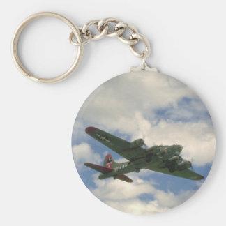 B17, Belly View. (plane;b17_WWII Planes Keychain