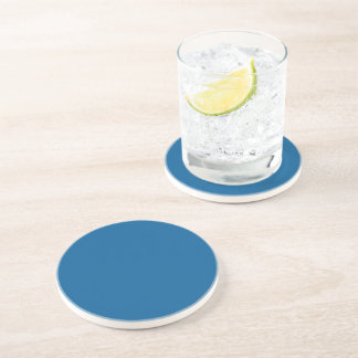 B17 Beneficently Influential Blue Color Coaster