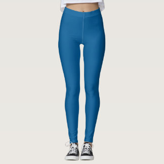 B17 Beneficently Influential Blue Color Leggings