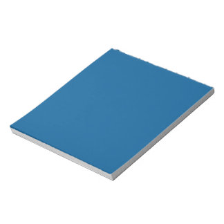 B17 Beneficently Influential Blue Color Notepad