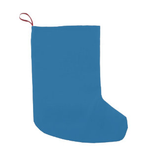 B17 Beneficently Influential Blue Color Small Christmas Stocking