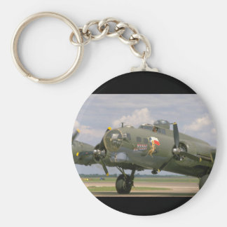 B17 Closeup, Front Left_WWII Planes Keychain