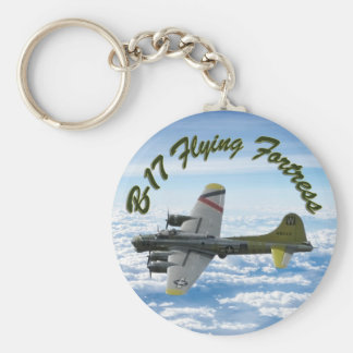 B17 Flying Fortress WWII Bomber Airplane Keychain