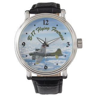 B17 Flying Fortress WWII Bomber Airplane Wrist Watch