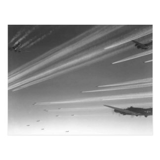 B17 Flying Fortresses On The Way To Target Postcard