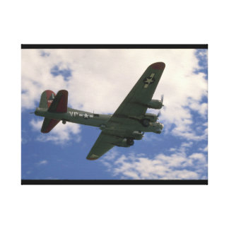 B17 Flying Overhead_WWII Planes Canvas Print