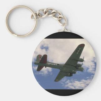 B17 Flying Overhead_WWII Planes Keychain