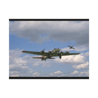 B17, Front Right Angle_WWII Planes Canvas Print