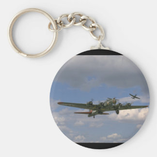 B17, Front Right Angle_WWII Planes Keychain