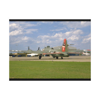 B17 On Ground, Right Rear_WWII Planes Canvas Print