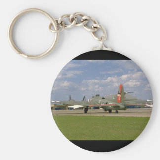 B17 On Ground, Right Rear_WWII Planes Keychain