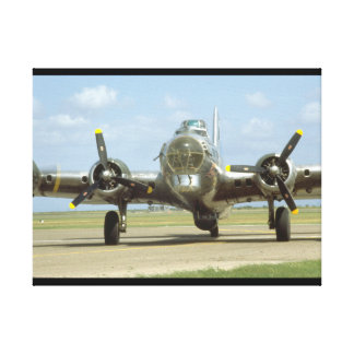 B17 On Runway, Frontal. (plane_WWII Planes Canvas Print