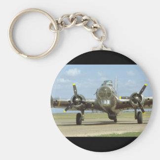 B17 On Runway, Frontal. (plane_WWII Planes Keychain