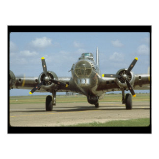 B17 On Runway, Frontal. (plane_WWII Planes Poster