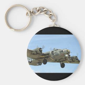 B17 'Sentimental' In Air._WWII Planes Keychain