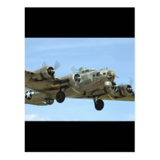 B17 'Sentimental' In Air._WWII Planes Postcard