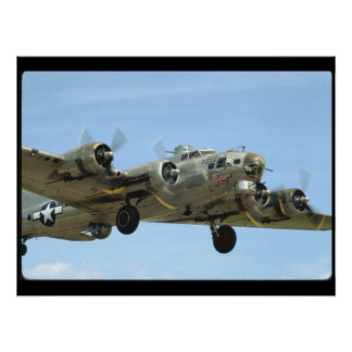 B17 'Sentimental' In Air._WWII Planes Poster