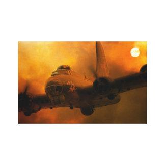 B17 Sunset Canvas Print