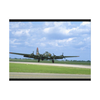 B17 Taking Off, Front Right_WWII Planes Canvas Print