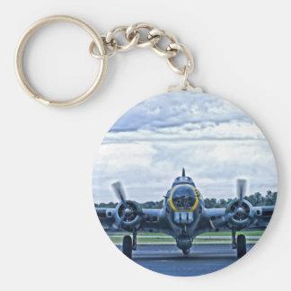 B17 Vintage Airplane Aircraft Flying Keychain