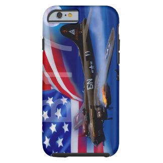 B17 With American Flag Tough iPhone 6 Case