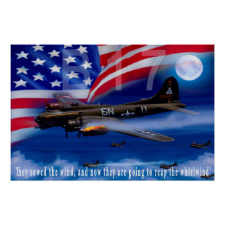 B17 With Bomber Harris Quote Poster