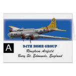 B17G 94th Bomb Group Card