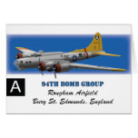 B17G 94th Bomb Group Greeting Cards
