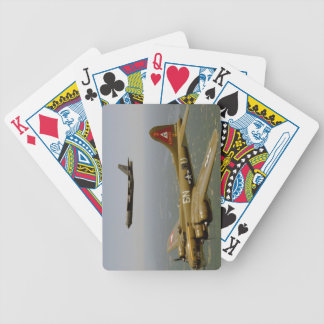 B17G and B52H Bombers in Flight Bicycle Playing Cards
