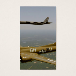 B17G and B52H Bombers in Flight Business Card