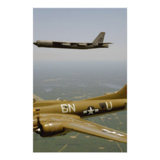 B17G and B52H Bombers in Flight Flyer Design