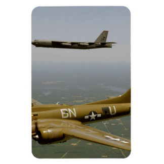 B17G and B52H Bombers in Flight Magnet