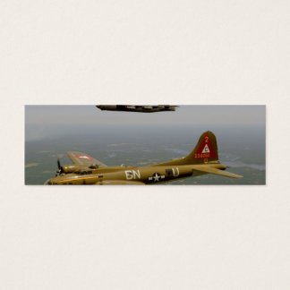B17G and B52H Bombers in Flight Mini Business Card