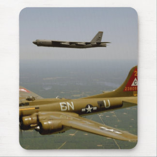 B17G and B52H Bombers in Flight Mouse Pad