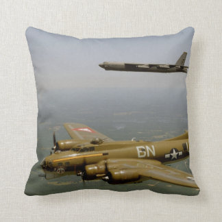 B17G and B52H in Flight Throw Pillow