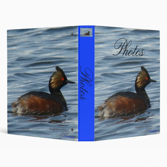 B1 Eared Grebe 3 Ring Binder